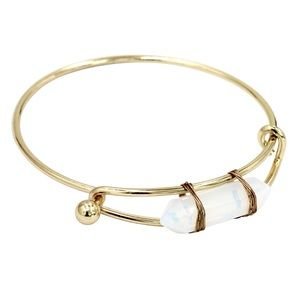 Fashion white crystal golden bracelet